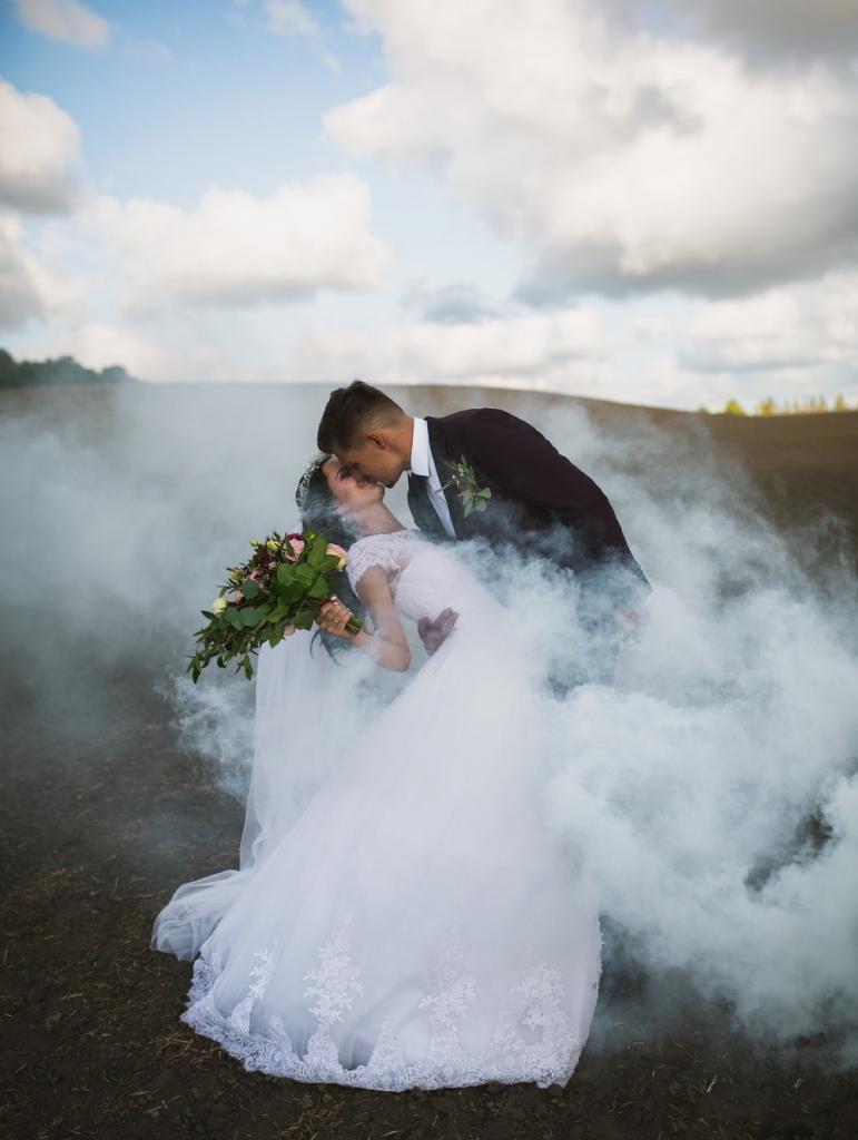 a couple having their wedding photoshoot